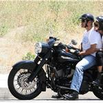 George Clooney bike ride with Elisabetta Canalis meet up with Cindy Crawford and Rande Gerbert 62667