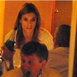 George Clooney and Elisabetta Canalis out for dinner in Como June 2011 87520