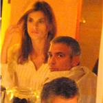 George Clooney and Elisabetta Canalis out for dinner in Como June 2011 87523