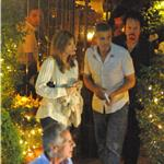 George Clooney and Elisabetta Canalis out for dinner in Como June 2011 87525
