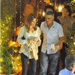 George Clooney and Elisabetta Canalis out for dinner in Como June 2011 87526
