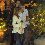 George Clooney and Elisabetta Canalis out for dinner in Como June 2011 87529