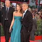 George Clooney Elisabetta Canalis Venice 2009 for premiere of Men Who Stare At Goats 87961