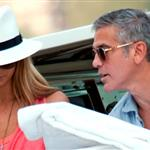 George Clooney boating with Stacy Keibler in Italy 119662