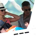 George Clooney boating with Stacy Keibler in Italy 119664