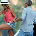George Clooney boating with Stacy Keibler in Italy 119666