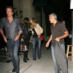 George Clooney, Stacy Keibler, Cindy Crawford and Rande Gerber dine at Spago in Beverly Hills, CA 116972
