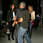 George Clooney, Stacy Keibler, Cindy Crawford and Rande Gerber dine at Spago in Beverly Hills, CA 116974