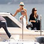 George Clooney and Stacy Keibler arrive in Lake Como June 2012  117150