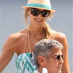 George Clooney and Stacy Keibler arrive in Lake Como June 2012  117154