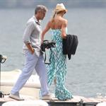 George Clooney and Stacy Keibler arrive in Lake Como June 2012  117147