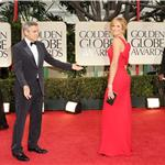 George Clooney and Stacy Keibler at the 2012 Golden Globe Awards 103088