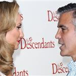 George Clooney and Stacy Keibler at the premiere of The Descendants  98495