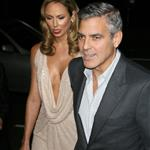 George Clooney and Stacy Keibler at the premiere of The Descendants  98496