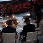George Clooney and Stacy Keibler have dinner at Villa d'Este, Como, Cernobbio 117864