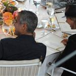 George Clooney and Stacy Keibler have dinner at Villa d'Este, Como, Cernobbio 117881