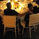 George Clooney and Stacy Keibler have dinner at Villa d'Este, Como, Cernobbio 117884