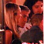 George Clooney and Stacy Keibler dine at Navedano restaurant in Como, Italy 118317