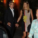 George Clooney and Stacy Keibler dine at Navedano restaurant in Como, Italy 118329