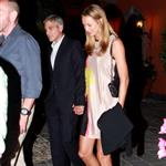George Clooney and Stacy Keibler dine at Navedano restaurant in Como, Italy 118330