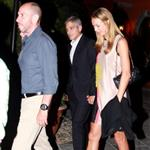 George Clooney and Stacy Keibler dine at Navedano restaurant in Como, Italy 118331