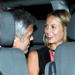 George Clooney and Stacy Keibler dine at Navedano restaurant in Como, Italy 118337
