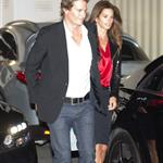 George Clooney, Stacy Keibler, Cindy Crawford and Randy Gerber leave Craig's Restaurant in West Hollywood 112545
