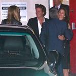 George Clooney, Stacy Keibler, Cindy Crawford and Randy Gerber leave Craig's Restaurant in West Hollywood 112546