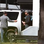 Gerard Butler on the set of Playing the Field in Shreveport Louisiana 82793