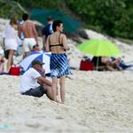 Richard Gere in St Barts with Carey Lowell and son 29878