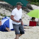 Richard Gere in St Barts with Carey Lowell and son 29877