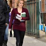 Hilary Duff on the Gossip Girl set in NYC 48675