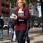 Hilary Duff on the Gossip Girl set in NYC 48676
