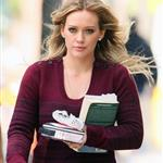 Hilary Duff on the Gossip Girl set in NYC 48677