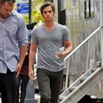Penn Badgley on the Gossip Girl set in NYC 48679