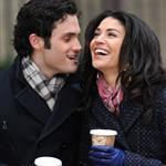 Penn Badgley and Jessica Szhor on the set of Gossip Girl 51521