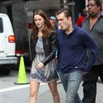 Ed Westwick and Leighton Meester on the Gossip Girl set 46008