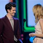 Emma Stone and Andrew Garfield at Nickelodeon's 25th Annual Kids' Choice Awards 110356