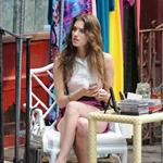 Allison Williams on the set of Girls in Soho 116544