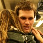 Tom Brady of the New England Patriots gets a hug from his wife Gisele Bundchen after losing to the New York Giants 105028