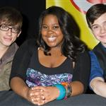 Kevin McHale, Amber Riley, and Chris Colfer in Long Island to promote the Glee soundtrack 49849