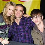 Dianna Agron, Mark Salling, and Kevin McHale in Long Island to promote the Glee soundtrack 49851