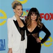 Kate Hudson  and Lea Michele arrive at the premiere of Fox Television's 'Glee' at Paramount Studios 126336