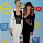 Kate Hudson  and Lea Michele arrive at the premiere of Fox Television's 'Glee' at Paramount Studios 126345