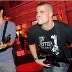 Harry Shum Jr and Mark Salling at Guitar Hero launch 69638