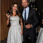 Sofia Vergara and Gerard Butler during the 69th annual Golden Globe Award Nominations announcements 100695