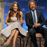 Sofia Vergara and Gerard Butler during the 69th annual Golden Globe Award Nominations announcements 100696