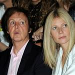 Gwyneth Paltrow sits next to Paul McCartney at the Stella McCartney show at Paris Fashion Week 48190