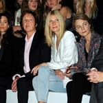 Gwyneth Paltrow sits next to Paul McCartney at the Stella McCartney show at Paris Fashion Week 48191