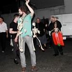Ryan Gosling with his band on Sunday after a performance in LA 47052